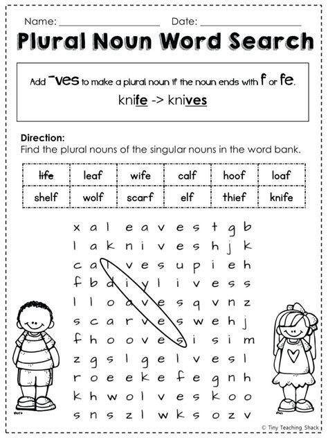 worksheet works plurals kidz activities