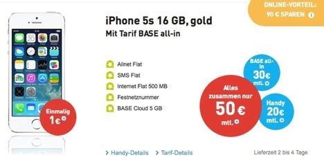 preissenkung iphone  mit vertrag nur  euro bei base