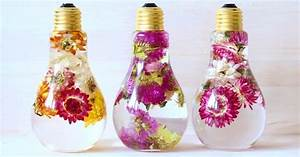 Flower Chart In English Flower Light Bulb Vase Suspends Beautiful Blooms Like