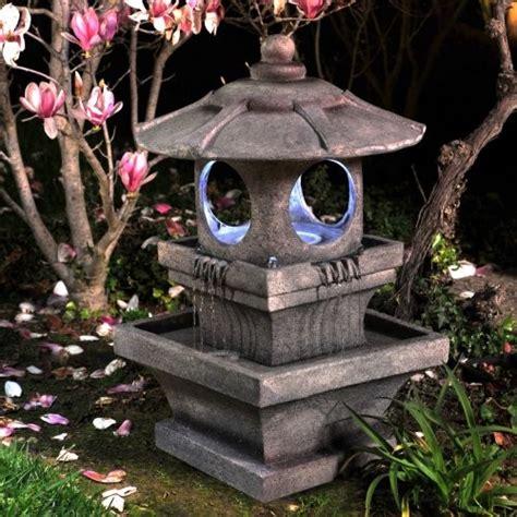 bond mikio lighted garden fountain asian outdoor