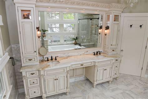 double bathroom vanity with makeup area makeup wordplaysalon