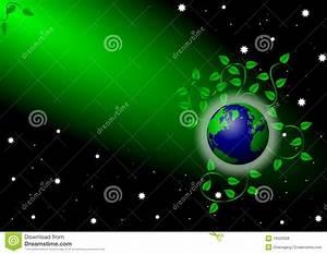 Earth, Under, Green, Spotlight, Stock, Illustration