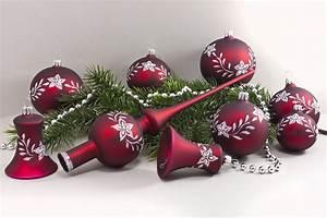 Weihnachtskugeln Glas Lauscha : 21tlg set dunkelrot matt mit blumenranke onlineshop f r ~ A.2002-acura-tl-radio.info Haus und Dekorationen