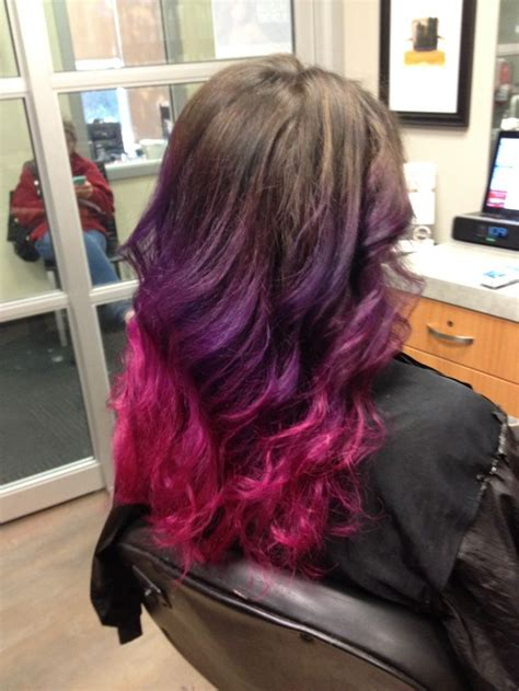 My New Pink And Purple Ombre Hair Hair Color Pictures