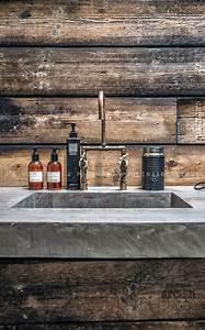 Industrial bathroom sink wood concrete modern rustic for Concrete bathroom sinks for sale