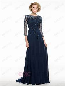 ericdress luxury beading 3 4 length sleeves long mother of With robe de belle mère