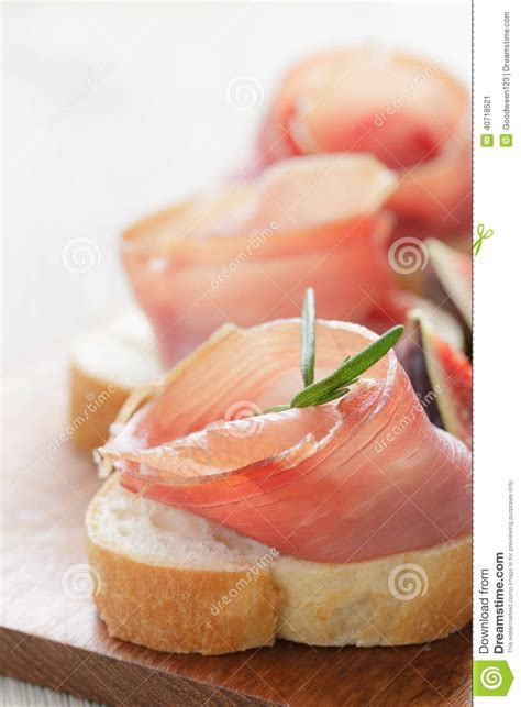 traditional canapes canapes with jamon