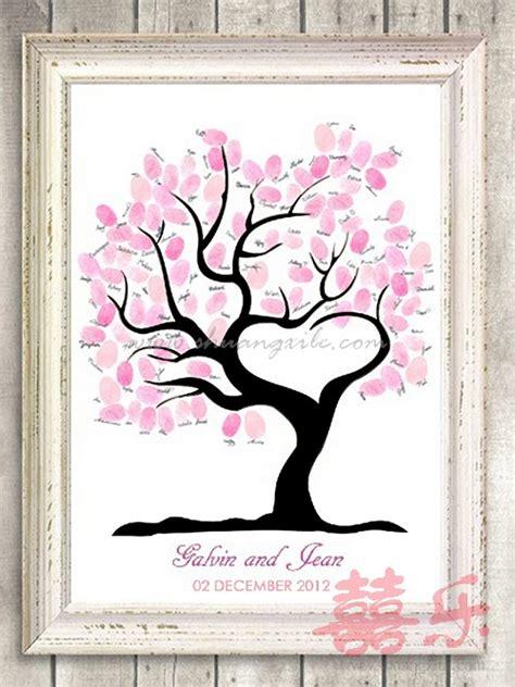 heart wedding tree thumbprint guestbook wedding guest