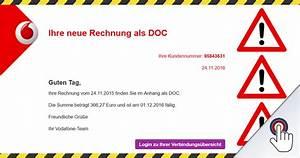 Vodafone Rechnung Fragen : b sartiger virus tarnt sich als vodafone rechnung mimikama ~ Themetempest.com Abrechnung
