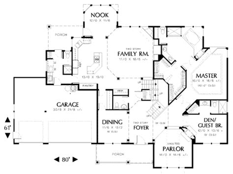 Home Design 50 Sq Ft : 3500 Sq Ft Ranch House Plans Luxury Traditional Style