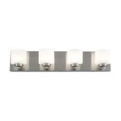 Led Bathroom Vanity Lights Home Depot by Alternating Current Clean 4 Light Satin Nickel Led Bath