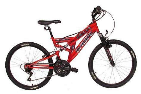 dual suspension 24 inch sabre delta mountain bike for