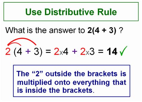 Expanding Brackets Using Distributive Rule  Passy's World Of Mathematics