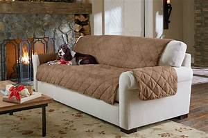 Sure fit slipcovers life is ruff pet proof your decor for Leather furniture covers for dogs