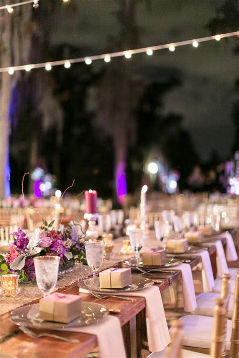 chic plum champagne wedding   detail