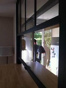Maison Americaine Interieur : fen tre americaine passe plat int rieur s paration ~ Zukunftsfamilie.com Idées de Décoration