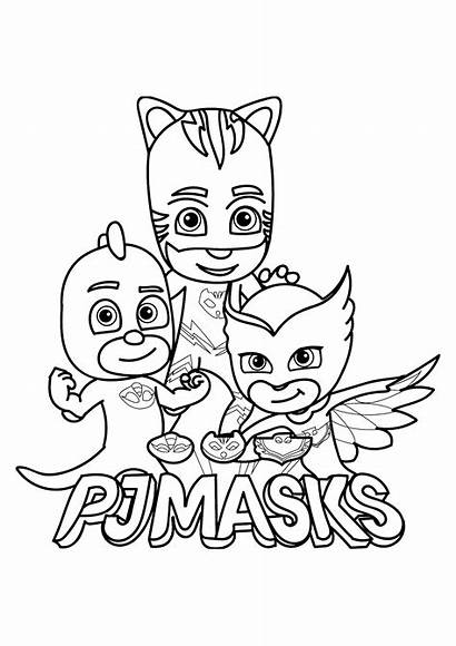 Coloring Masks Pj Children Pages Funny Characters