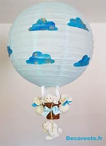 Veilleuse Bébé Nuage : lampe montgolfi re mouton nuage enfant b b luminaire enfant b b decoroots ~ Teatrodelosmanantiales.com Idées de Décoration