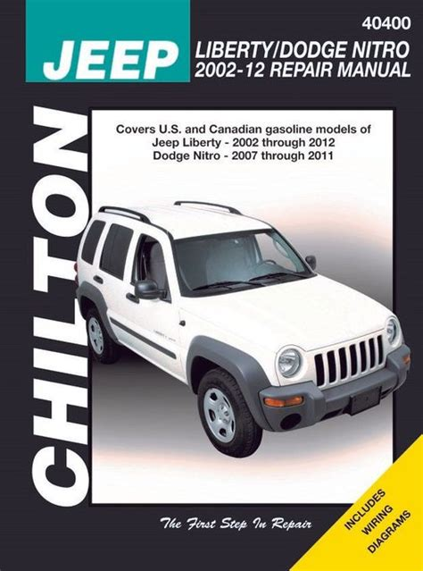 buy car manuals 2011 jeep liberty electronic toll collection jeep liberty dodge nitro repair manual 2002 2012 chilton 40400