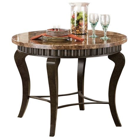 steve silver company hamlyn marble top dining table in