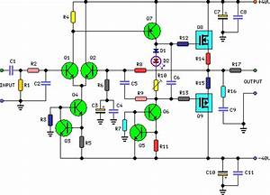60 Watt Audio Power Amplifier Circuit Project