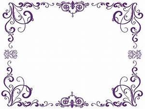 Purple Swirl Border | purple-borders | Trucks | Pinterest ...