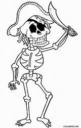 Skeleton Coloring Pages Pirate Printable Cool2bkids sketch template