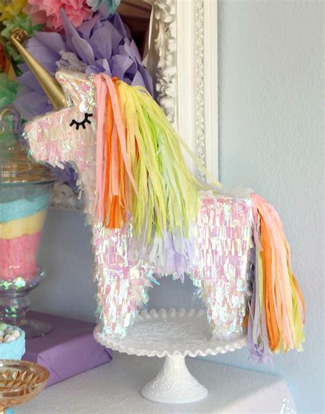 karas party ideas pastel iridescent unicorn  bday