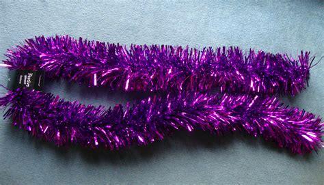 luxury purple christmas tinsel garland christmas tree