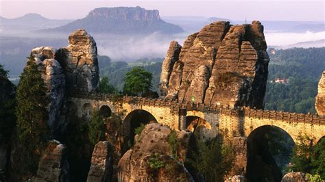 saxon switzerland national park bridge germany