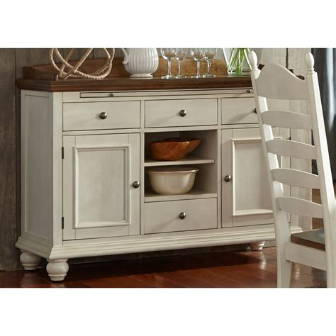 Furniture Buffet Sideboard by Liberty Furniture Springfield Dining 4 Drawer Sideboard