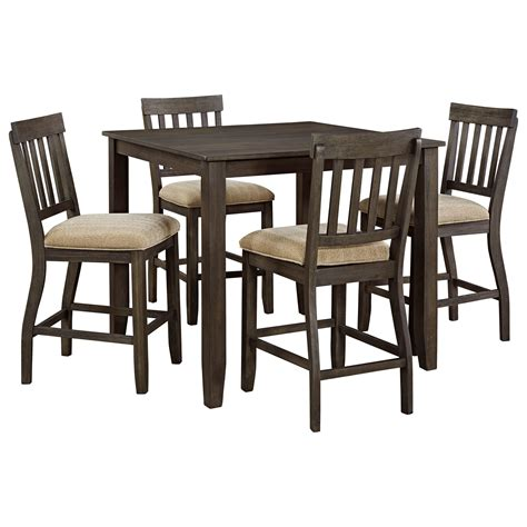 square dining table set signature design by ashley dresbar 5 piece square dining