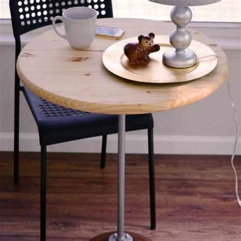 diy bistro table  pedestal base   wood salad