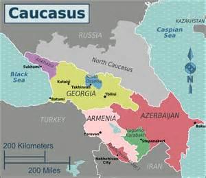 Azerbaijan Caucasus Region Maps