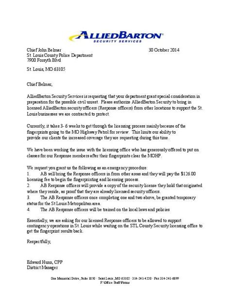 letter  alliedbarton security services stltodaycom