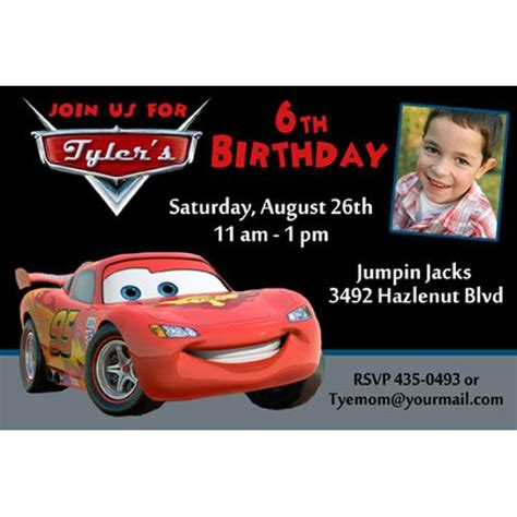 Disney Cars Party Invitation Templates Free Printable On Lightning