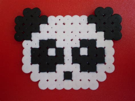 tutorial kawaii panda pysslahama beads youtube
