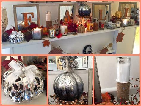 fall fireplace decor   diy dollar tree wal mart