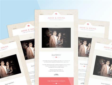 amar  shilnas wedding invite mailchimp template