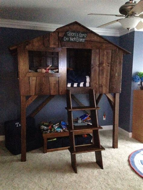 tree house bed tree house twin size bed rooms pinterest