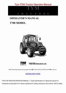 Tym T700 Tractor Operator Manual By Sheryll Dornak