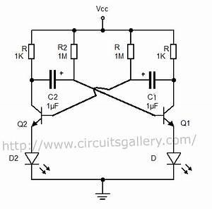 astable multivibrator using transistors transistorised With 555 astable circuit