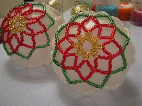 poinsettia beaded ornament part    youtube