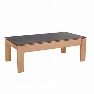 Table Basse Rectangulaire Bois : table basse contemporaine rectangulaire en bois et c ramique avec tiroir bakou 4 ~ Teatrodelosmanantiales.com Idées de Décoration