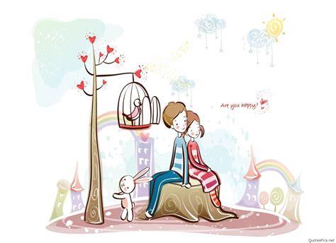 cute cartoon love couple drawings images pics