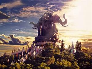Buddhist Elephant Art