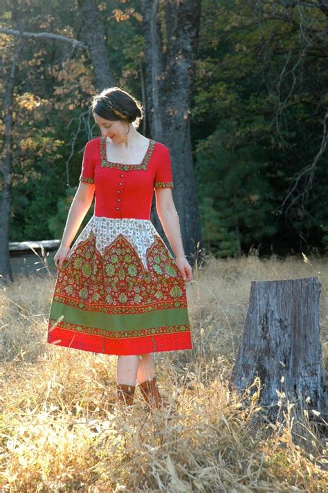 vintage dirndl traditional austrian folk dress