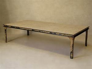 large iron and stone coffee table france 1950s at 1stdibs With large stone coffee table