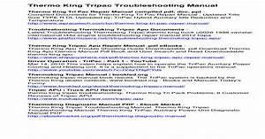 Thermo King Tripac Troubleshooting Manual