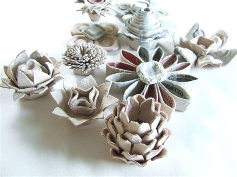 dishfunctional designs egg carton flower crafts